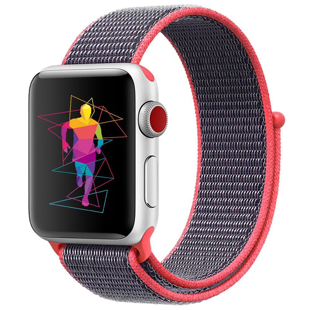 Nylon Woven Loop Replacement Band for Apple Watch Series 4, Series 3, Series 2, Series 1